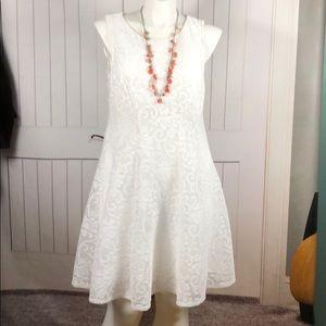 NWOT LANE BRYANT WHITE LACE DRESS SIZE 14/16